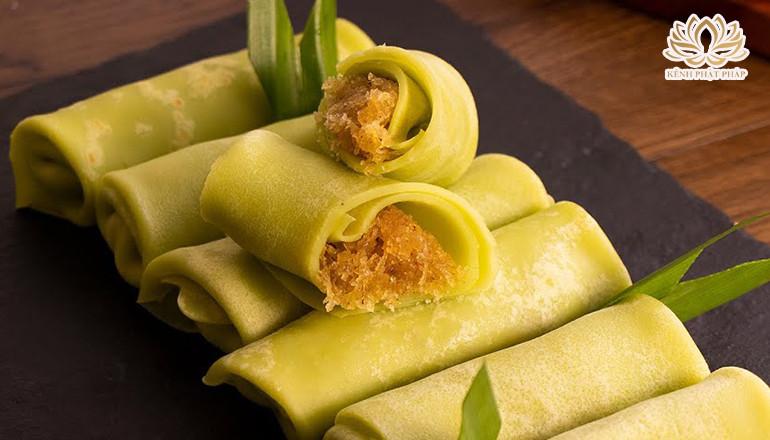 Cách làm bánh crepe lá dứa nhân dừa thơm ngon đơn giản dễ làm