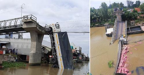 Tài xế xe tải chở hơn 23 tấn lúa qua cầu 3,5 tấn gây sập cầu: tôi tưởng cầu Việt Nam chịu tải tốt.