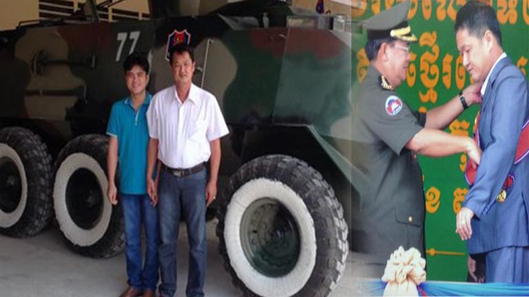 Hai cha con nông dân Việt Nam chế tạo xe tăng, xe bọc thép cho Campuchia, được trao tặng cả huân chương Đại tướng quân