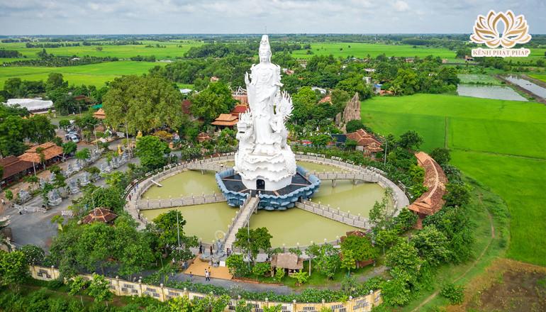 Chùa Gò Kén - Ngôi chùa đẹp nhất Tây Ninh thăm hàng chục pho tượng khổng lồ