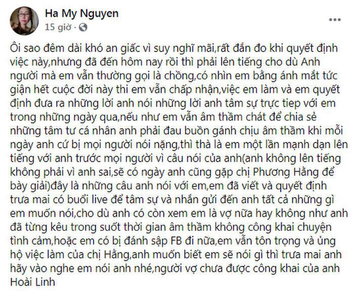 Hoài Linh chính thức tuyên bố gặp bà Hằng để nói chuyện: 'Tôi không lên tiếng không phải vì tôi sai'