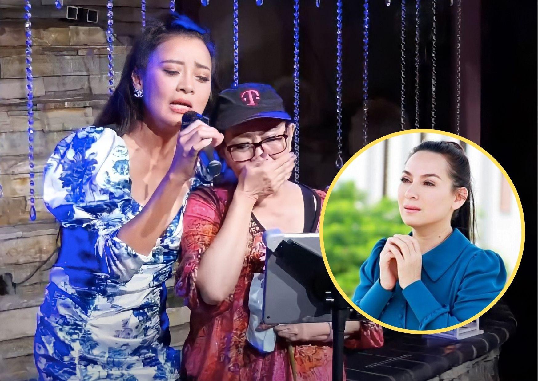 Nghệ sĩ Ngọc Đáng bật khóc khi hát ca khúc 'Vọng Kim Lang' của Phi Nhung /// Chụp màn hình