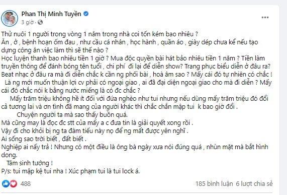 Diễn viên Tuyền Mập đăng bài miệt thị ngoại hình gia đình Hồ Văn Cường, có phát ngôn gây bức xúc - Hình 2