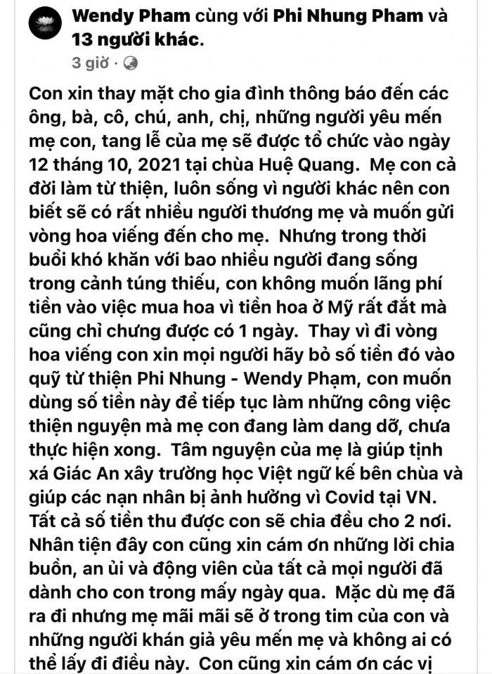 Mạnh Quỳnh nghẹn ngào gửi lời tiễn biệt cuối cùng đến cố ca sĩ Phi Nhung, ai nghe cũng thấy xúc động - Hình 1