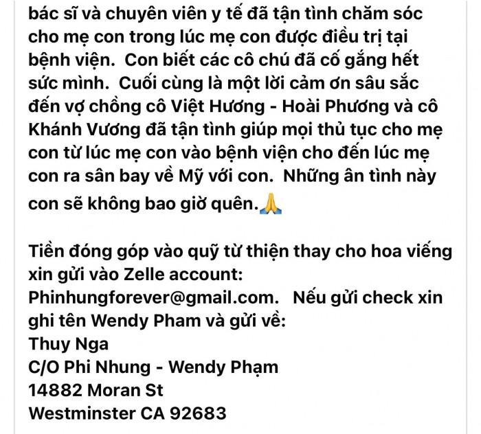 Mạnh Quỳnh nghẹn ngào gửi lời tiễn biệt cuối cùng đến cố ca sĩ Phi Nhung, ai nghe cũng thấy xúc động - Hình 2